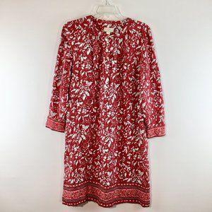 Ann Taylor Loft floral print long sleeves dress